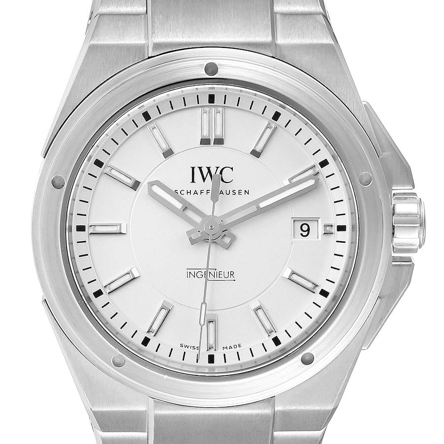 IWC Ingenieur Automatic Silver Dial Steel Mens Watch IW323904 Card SwissWatchExpo