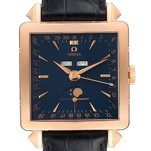 Photo of Omega Museum Collection 1951 Cosmic 18k Rose Gold Mens Watch 5701.80.03