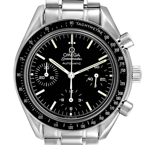 Photo of Omega Speedmaster Reduced Chronograph Steel Mens Watch 3539.50.00 Card