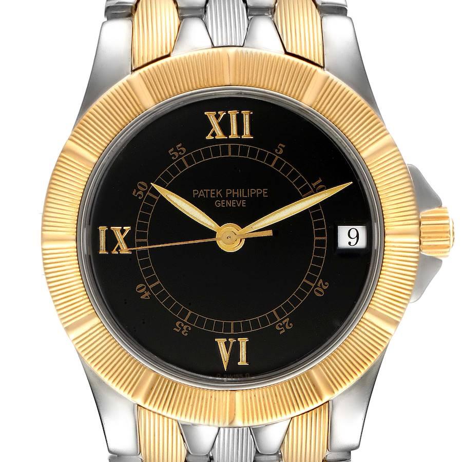 Patek Philippe Neptune Black Dial Steel 18k Yellow Gold Mens Watch 5080 SwissWatchExpo