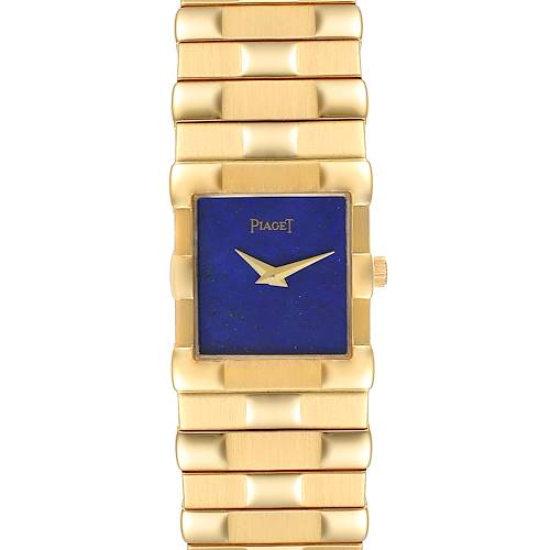 Photo of Piaget 18K Yellow Gold Lapis Lazuli Dial Quartz Mens Watch 81301