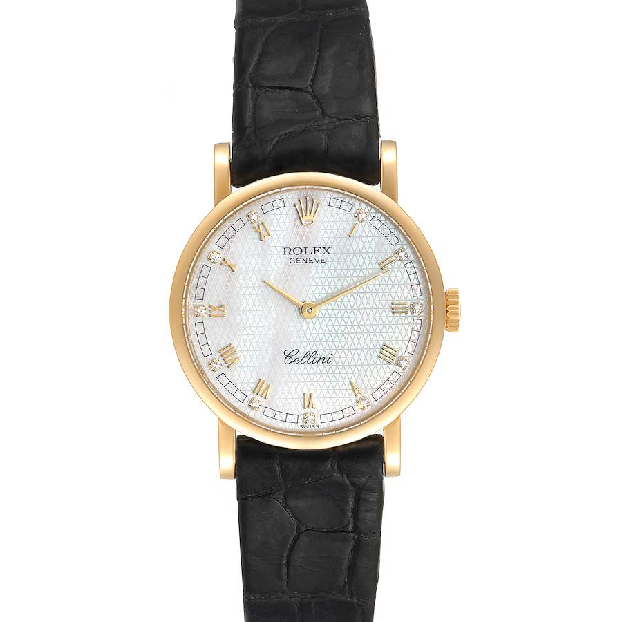 Rolex Cellini Classic Yellow Gold MOP Dial Ladies Watch 5109 Papers SwissWatchExpo