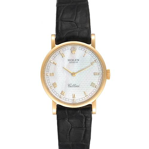 Photo of Rolex Cellini Classic Yellow Gold MOP Dial Ladies Watch 5109 Papers