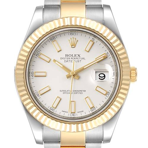 Photo of Rolex Datejust II Steel Yellow Gold Silver Dial Mens Watch 116333