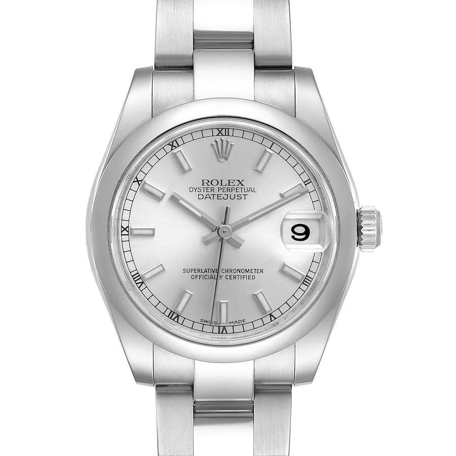 Rolex Datejust Midsize Silver Dial Steel Ladies Watch 178240 Box Card SwissWatchExpo