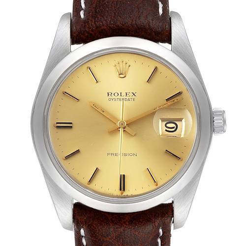 Photo of Rolex OysterDate Precision Steel Vintage Mens Watch 6694