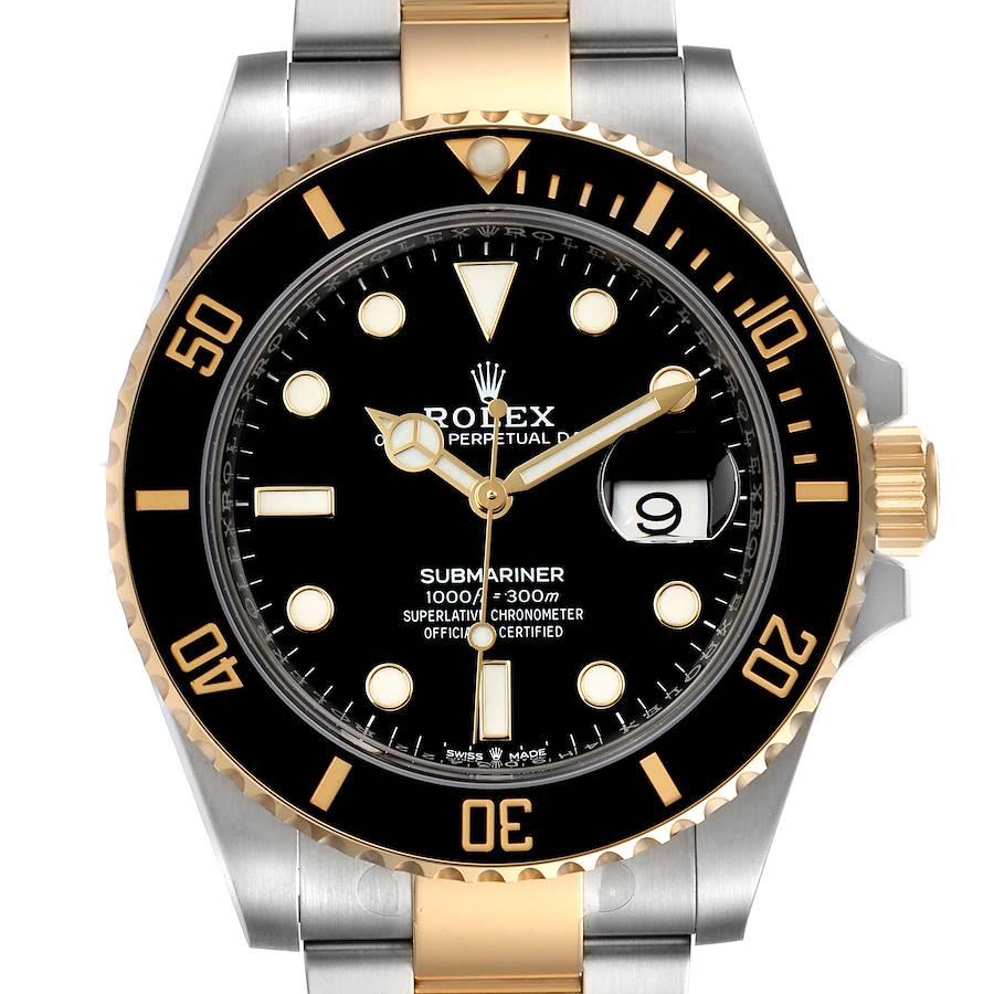 Rolex Submariner 41 Steel Yellow Gold Black Dial Mens Watch 126613 Unworn SwissWatchExpo