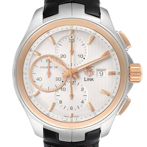Photo of TAG Heuer Link Steel Rose Gold Chronograph Mens Watch CAT2050