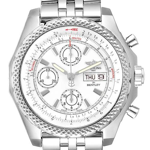 Photo of Breitling Bentley Motors GT II White Dial Mens Watch A13365 Box Card