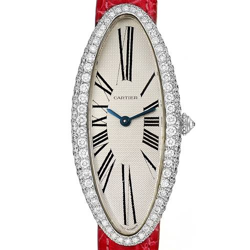 Photo of Cartier Baignoire Allongee White Gold Diamond Ladies Watch WB510931