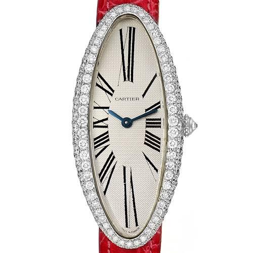 Photo of Cartier Baignoire Allongee White Gold Diamond Ladies Watch WB510931