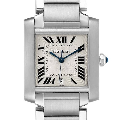 Photo of Cartier Tank Francaise Large Steel Automatic Mens Watch W51002Q3