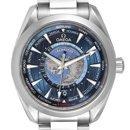 Photo of Omega Seamaster Aqua Terra Worldtimer GMT Watch 220.10.43.22.03.001