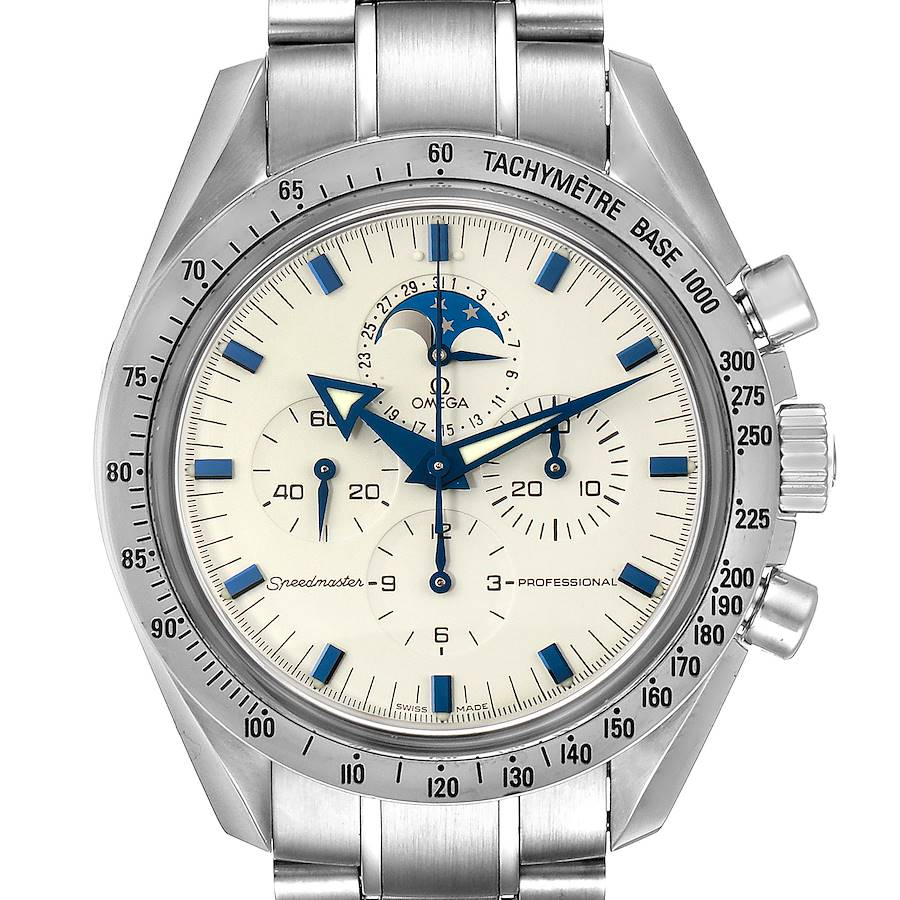 Omega Speedmaster MoonPhase Chronograph Mens Watch 3575.20.00 Card SwissWatchExpo