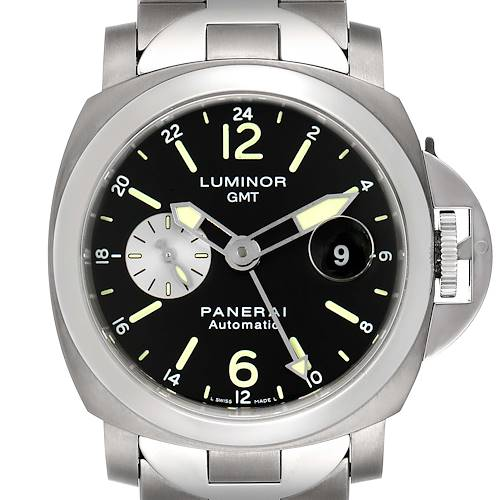 Photo of Panerai Luminor GMT Automatic Steel Mens Watch PAM00161 Box Papers