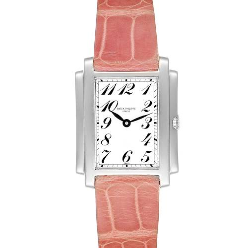 Patek Philippe Gondolo Ladies 18K White Gold Quartz Watch 4824