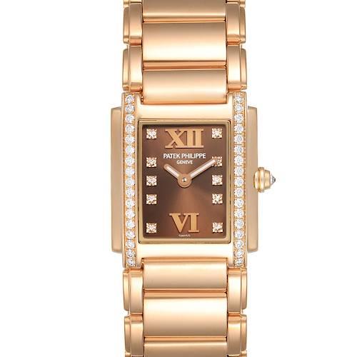 Photo of Patek Philippe Twenty-4 Small 18K Rose Gold Diamond Ladies Watch 4908