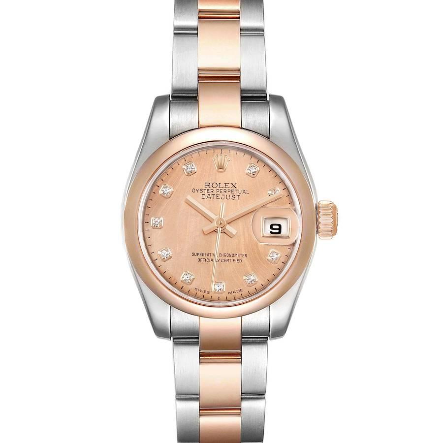 Rolex Datejust Steel Rose Gold Diamond Ladies Watch 179161 SwissWatchExpo
