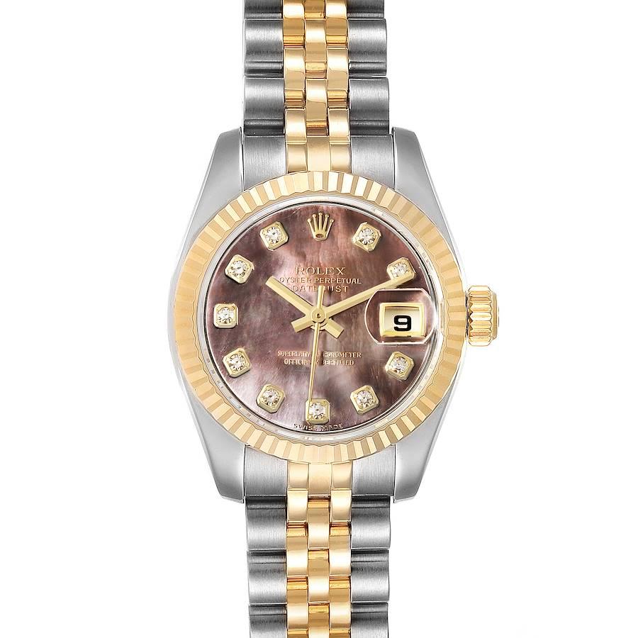 Rolex Datejust Steel Yellow Gold MOP Diamond Ladies Watch 179173 Box Tag SwissWatchExpo