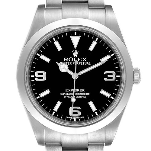 Photo of Rolex Explorer I Luminescent Arabic Numerals Mens Watch 214270