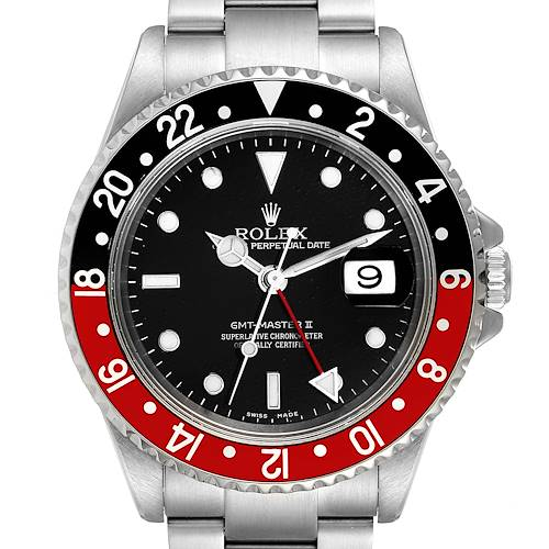 Photo of Rolex GMT Master II Black Red Coke Bezel Mens Watch 16710 - 1 LINK ADDED - PARTIAL PAYMENT