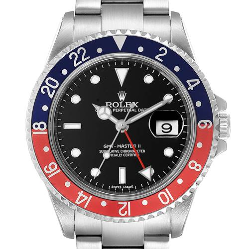 Photo of Rolex GMT Master II Error Dial Pepsi Bezel Steel Mens Watch 16710