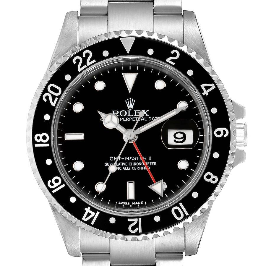 Rolex GMT Master II Error Dial Steel Mens 40mm Watch 16710 SwissWatchExpo