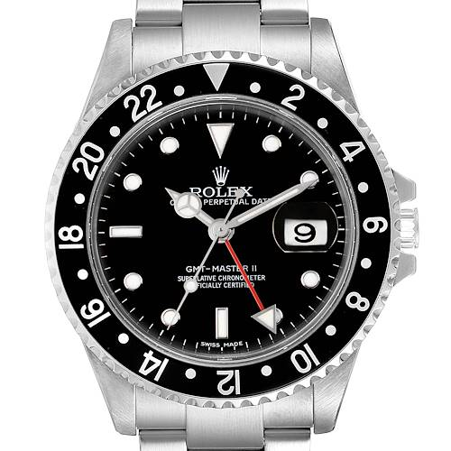Photo of Rolex GMT Master II Error Dial Steel Mens 40mm Watch 16710
