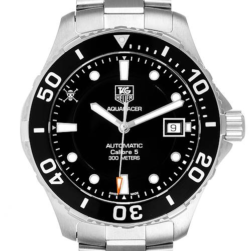 Photo of Tag Heuer Aquaracer Limited Edition Black Dial Steel Mens Watch WAN2114