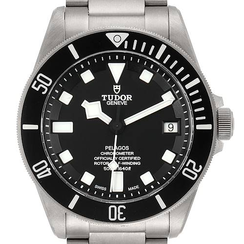 Photo of Tudor Pelagos Titanium Stainless Steel Mens Watch 25600TN Box Card