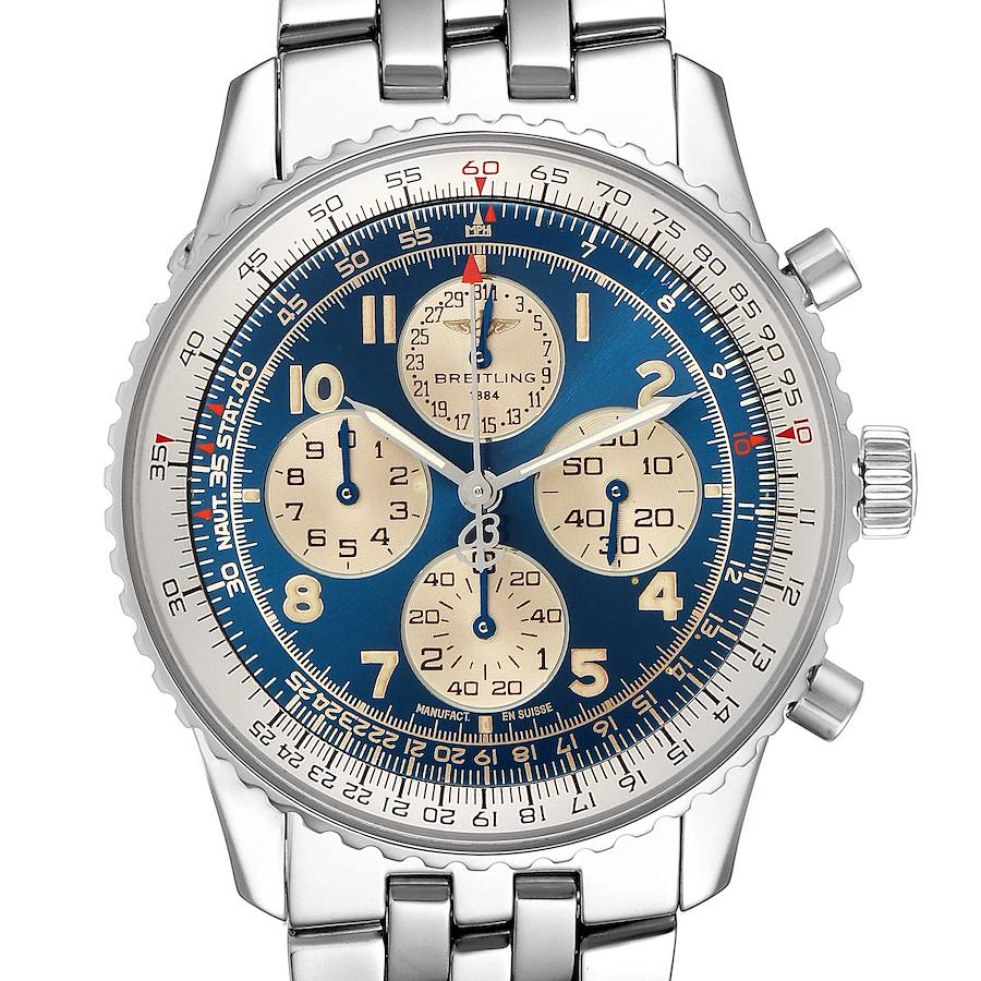 Breitling Navitimer Airborne Blue Dial Steel Mens Watch A33030 SwissWatchExpo