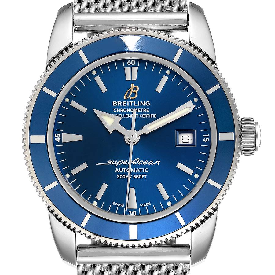 Breitling Superocean Heritage 42 Mesh Bracelet Watch A17321 Box and Papers SwissWatchExpo