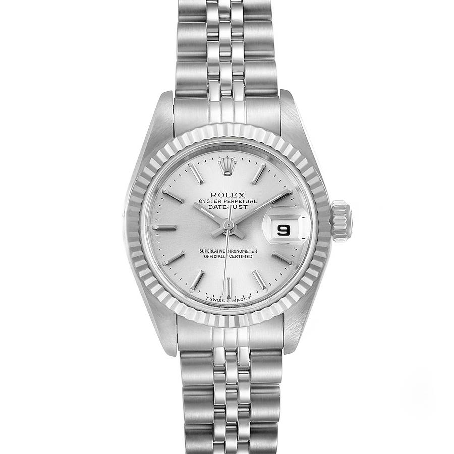 Rolex Datejust Steel White Gold Jubilee Bracelet Ladies Watch 69174 Papers SwissWatchExpo