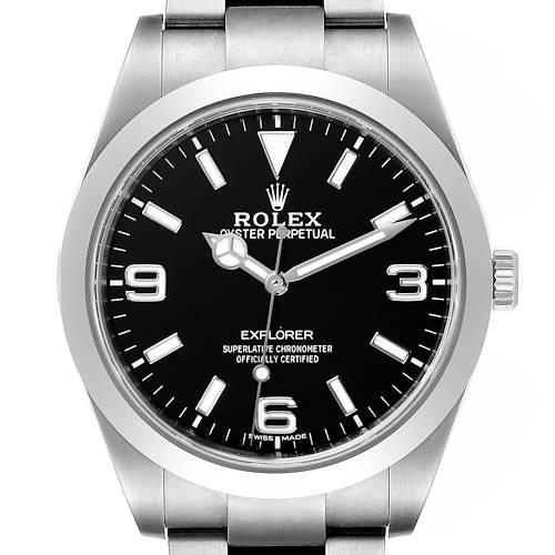 Photo of Rolex Explorer I Luminescent Arabic Numerals Mens Watch 214270 Box Papers