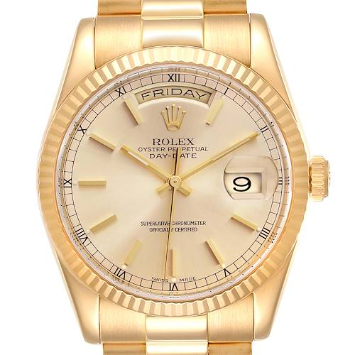 Photo of Rolex President Day Date 36mm Yellow Gold Mens Watch 118238