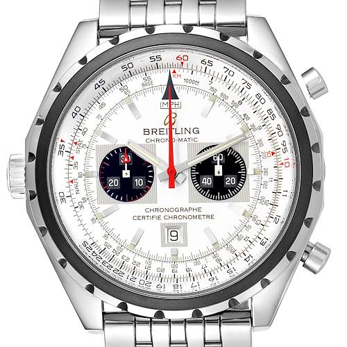 Photo of Breitling Chronomatic Chronograph Left Crown Mens Watch A41360 Box Papers