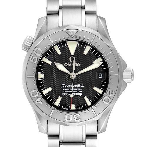 Photo of Omega Seamaster 36mm Midsize Black Wave Dial Steel Watch 2236.50.00 Card