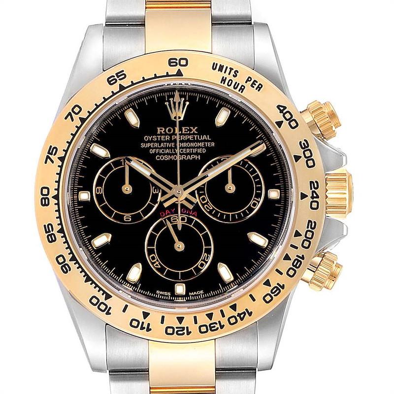 Rolex Cosmograph Daytona Steel Yellow Gold Mens Watch 116503 Box Card Unworn SwissWatchExpo