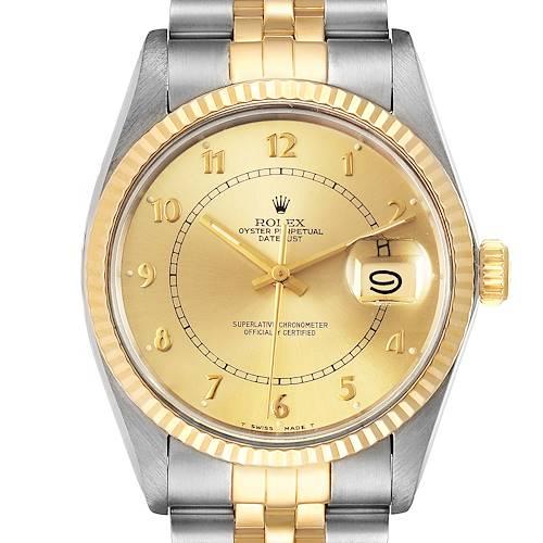 Photo of Rolex Datejust 36 Steel Yellow Gold Vintage Mens Watch 16013