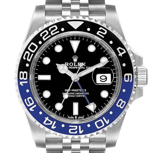 Photo of Rolex GMT Master II Black Blue Batman Jubilee Mens Watch 126710 Unworn
