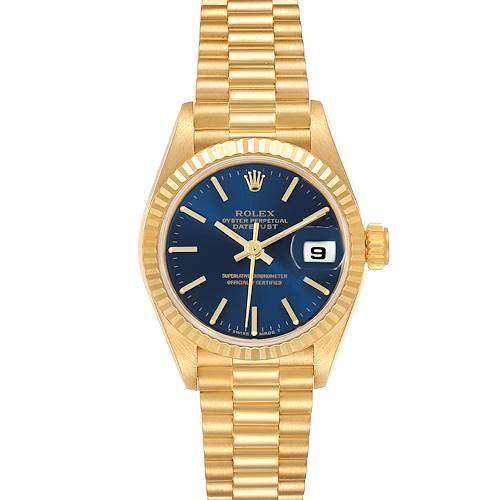Photo of Rolex President Datejust 26 Yellow Gold Ladies Watch 69178 Box Papers