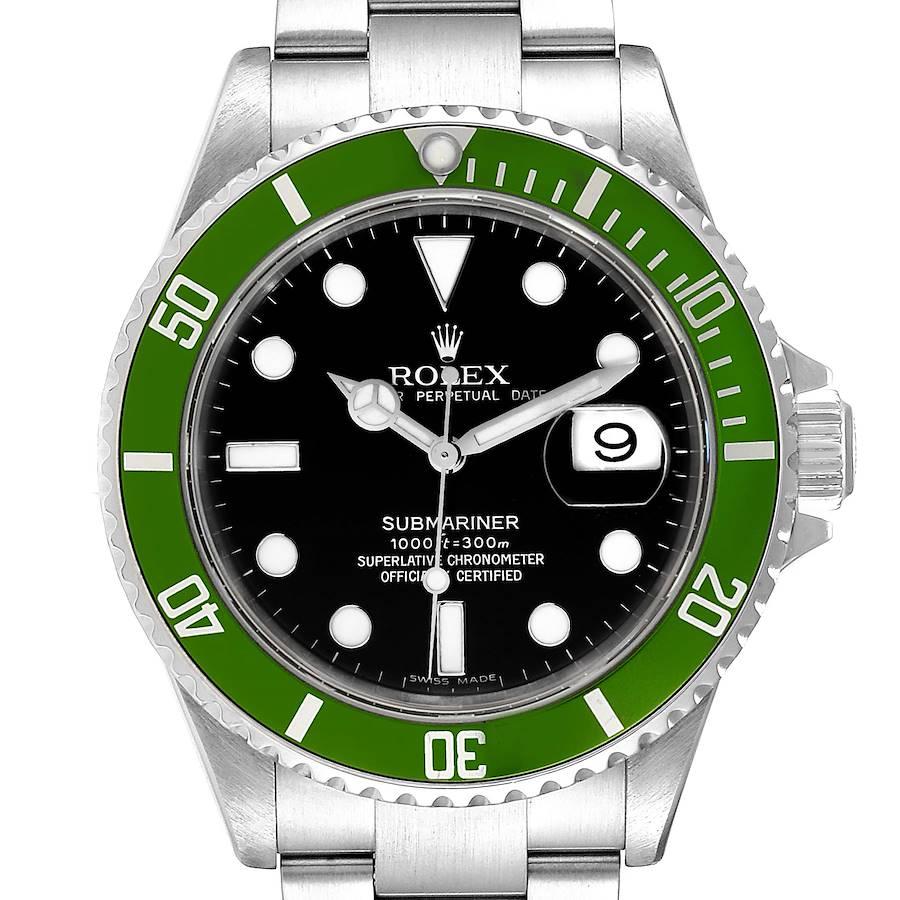 Rolex Submariner Green 50th Anniversary Mens Watch 16610LV Box Papers SwissWatchExpo