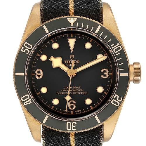 Photo of Tudor Heritage Black Bay Bronze Black Dial Mens Watch 79250 Box Card