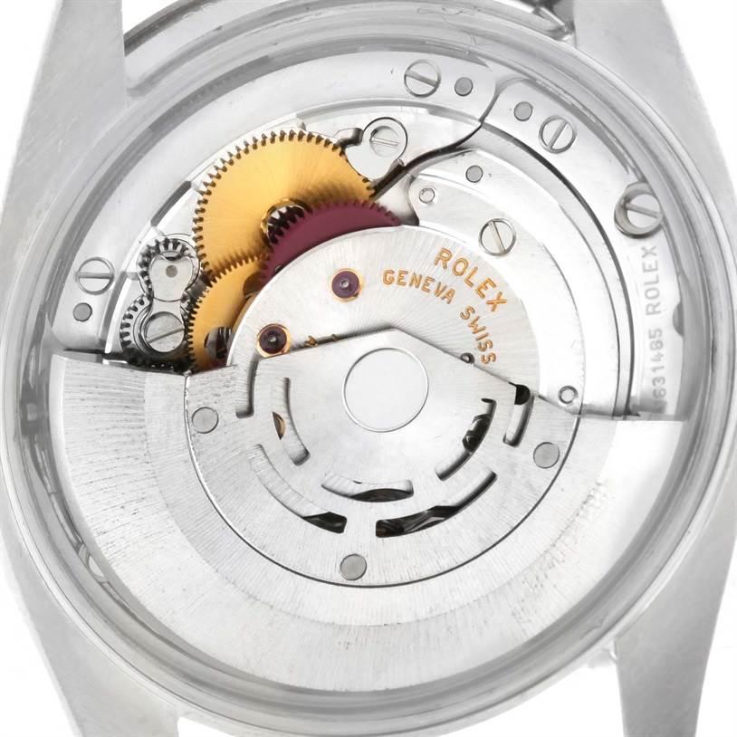 Rolex Date Stainless Steel White Roman Dial Mens Watch 115200SRO SwissWatchExpo
