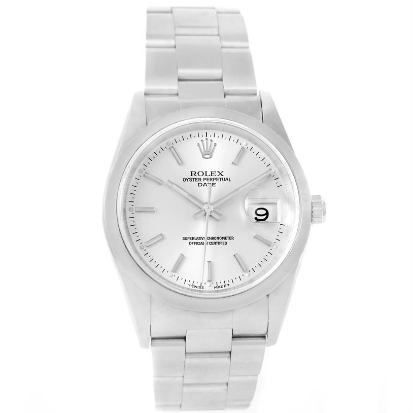 11794 Rolex Date Silver Dial Oyster Bracelet Steel Automatic Watch 15200 SwissWatchExpo