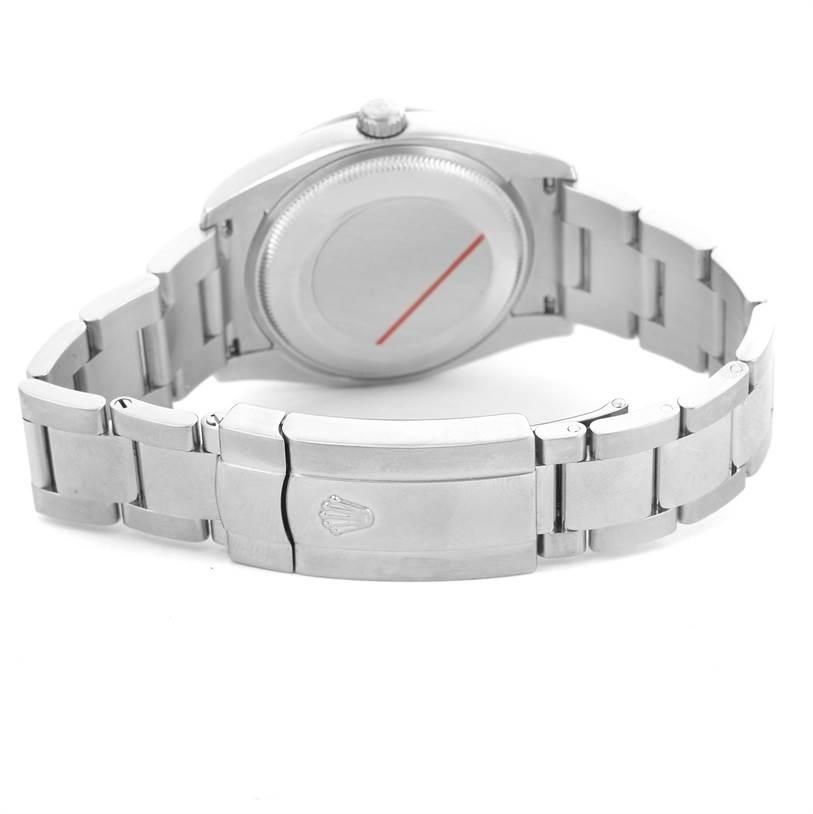Rolex Date Steel White Roman Dial Steel Mens Watch 115210 SwissWatchExpo
