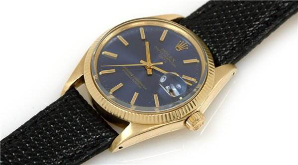 Rolex Vintage Mens 14k Yellow Gold Oyster Perpetual Date 1503 Rare SwissWatchExpo
