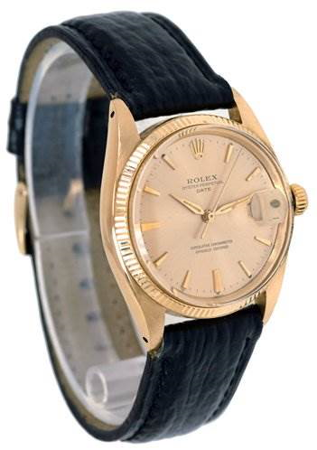 Rolex Vintage 18k Oyster Perpetual Date 1503 Year 1952 SwissWatchExpo