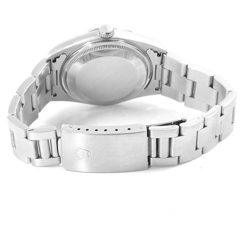 Rolex Date Silver Dial Oyster Bracelet Mens Watch 15200 Box Papers SwissWatchExpo