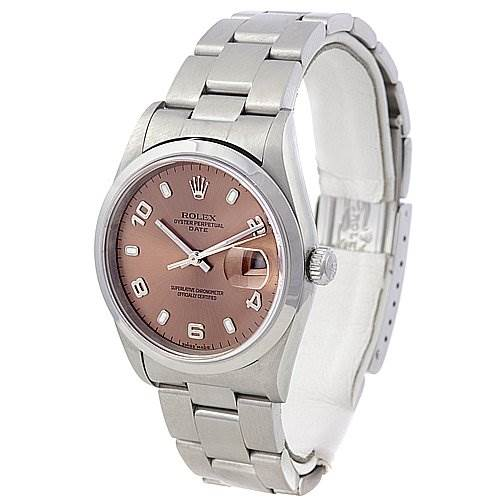 Rolex Mens Date Ss Watch Bronze Dial 15200 Year 2000 SwissWatchExpo